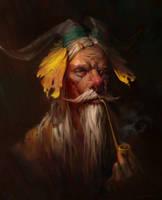 Old man by RuxingGao