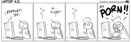 Laptop K.O by jollyjack
