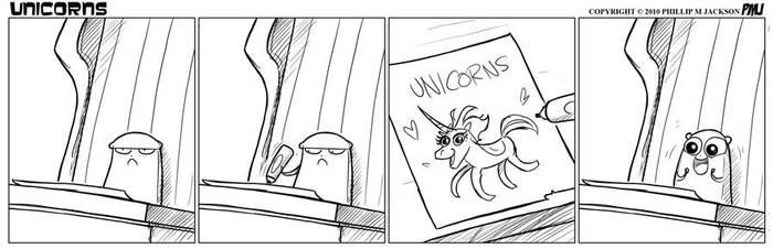 Unicorns make happies by jollyjack
