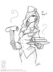 Air Hostess by jollyjack