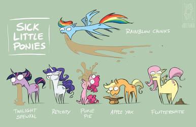 Sick Little Ponies by jollyjack