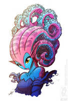 Tentacle Hair (Colour) by jollyjack