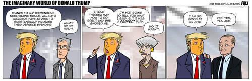 The Imaginary World Of Donald Trump by jollyjack