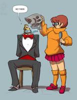 Pervulating Velma by jollyjack