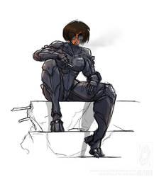 Robot Girl 2018 09 13 by jollyjack