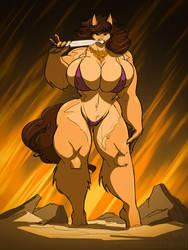 Barbarian Wolfy by jollyjack
