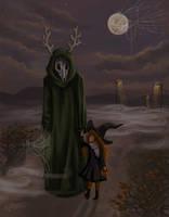 happy halloween,my deer friend by Sheeyo
