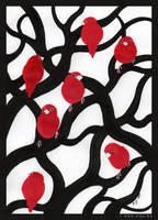 red.white.black: BIRDS by Sheeyo