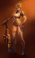 Construction Mech Girl Pilot by red--fox
