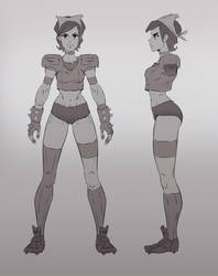 Cyan Character design by red--fox