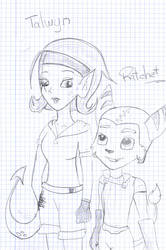 Talwyn and Ratchet by KazumyHinata