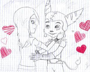 Me and Ratchet by KazumyHinata