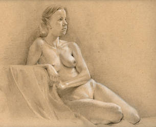 Female Figure Study in Pencil by Estranged74
