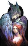 Blue angel by Quberon