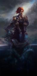 Sea wizard by Quberon