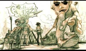 Gorillaz 2 by kamizH
