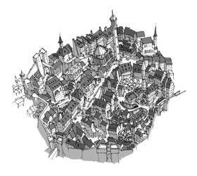 City sketch by Fred73fr