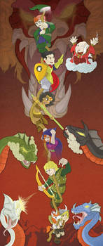 D is for Dungeons and Dragons by happymonkeyshoes