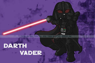 SW Chibis - Darth Vader by happymonkeyshoes
