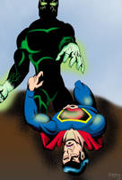 Superman vs The Atom Man by FAH3
