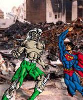 Doomsday vs Superman by FAH3
