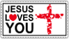 Jesus Loves You - Stamp by mxmx