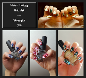 Nail Art 5 - Winter Holidays by SAmaryllis
