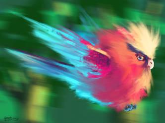 Birdie on Procreate by ArtbyGloriaColom
