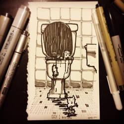 Inktober 01 2016 by ArtbyGloriaColom