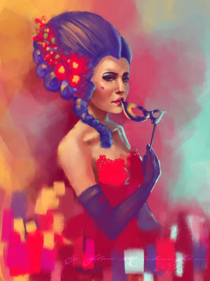 Lady in Red 2017 Version by ArtbyGloriaColom