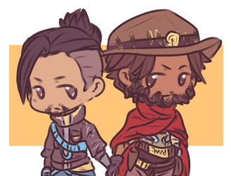 Commission - Hanzo n Mccree by akkame