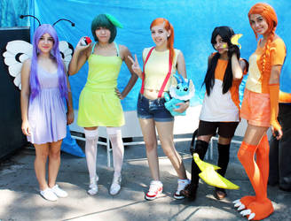 Misty and Pokegirls (Pokemon Gijinka) by FlorBcosplay