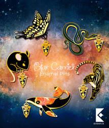 Star Carriers Enamel Pin Series 2 by AyumiNazu