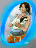 Chell - Portal 2 by karoljc