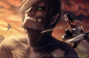 Attack on Titan by Attyca
