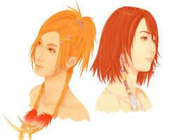 Rikku and Yuna by Zolaida
