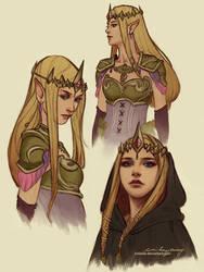 Princess Zelda Sketches by Zolaida