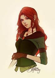 Eleia sketch commission by Zolaida