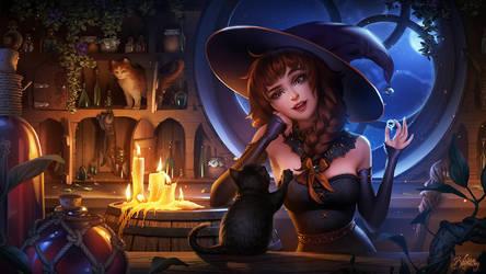 Witchy's Kitties by Zolaida