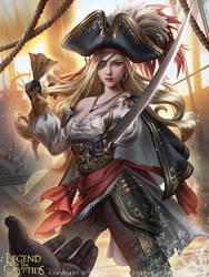 Legend of the Cryptids - Pirate Princess Ashlyan 2 by Zolaida
