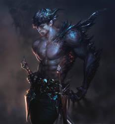 demon worrior by kalmaJH