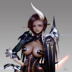 Arcane Girl by kalmaJH