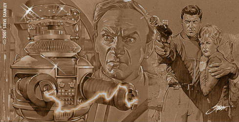 Lost in Space Robot-Dr. Smith- Robinsons by SteveStanleyArt