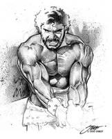 Lou Ferrigno: Hercules by SteveStanleyArt