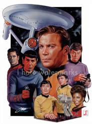 Classic Star Trek Montage by SteveStanleyArt