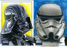 Star Wars_Darth Vader and Stormtrooper by SteveStanleyArt