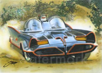 Batmobile ala Barris sketch card by SteveStanleyArt