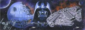 Star Wars : Doom vs. Hope Sketch Cards by SteveStanleyArt