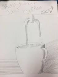 Sketchtember 2018 day 5 Coffee by CraneRelmaraVaerun