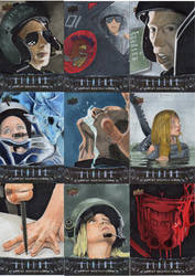 Aliens Sketch cards by amines1974